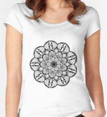 Floral Mandala  Women's Fitted Scoop T-Shirt