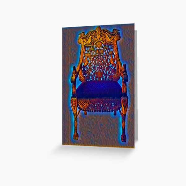 The Chair of Rebbe Nachman of Breslov Greeting Card