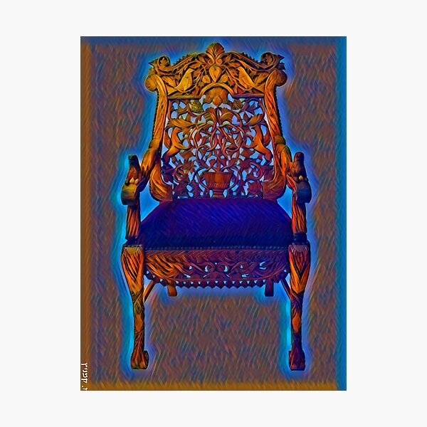 The Chair of Rebbe Nachman of Breslov Photographic Print