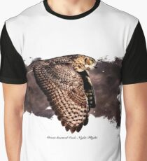 Great-Horned Owl: Night Flight Graphic T-Shirt