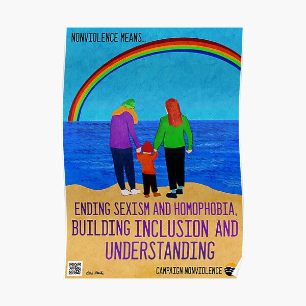 Nonviolence Means.... Ending Sexism and Homophobia Poster