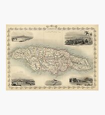 Vintage Map of Jamaica (1851) Photographic Print