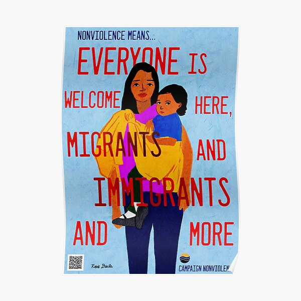 Nonviolence Means.... Everyone is Welcome Poster