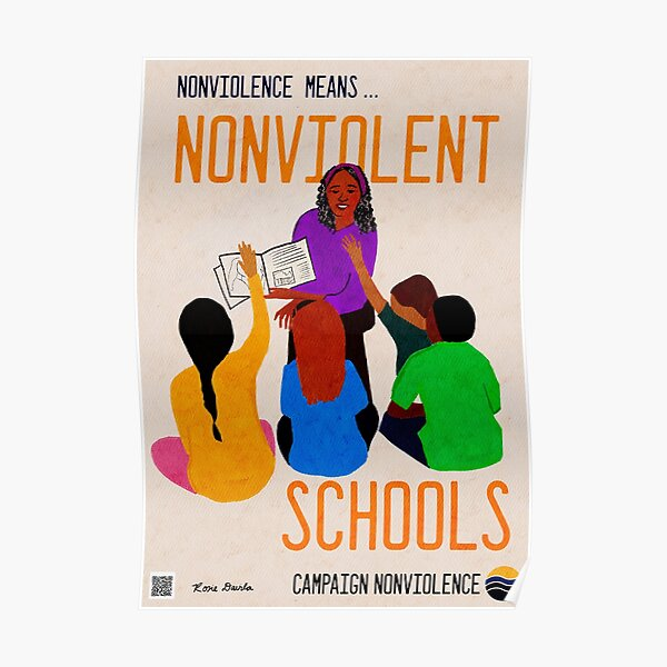 Nonviolence Means.... Nonviolent Schools Poster