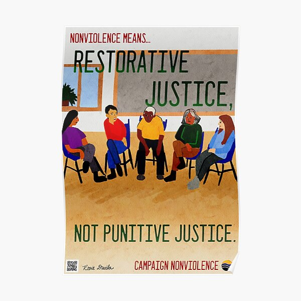 Nonviolence Means.... Restorative Justice Poster