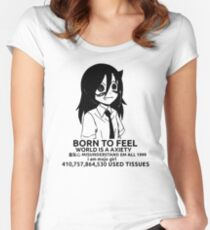 Tomoko - Born to Feel Shirt Women's Fitted Scoop T-Shirt