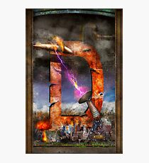 Steampunk - Alphabet - D is for Death Ray Photographic Print