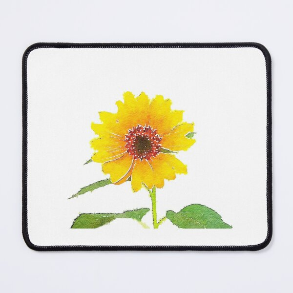 Sunflower in Watercolor Mouse Pad