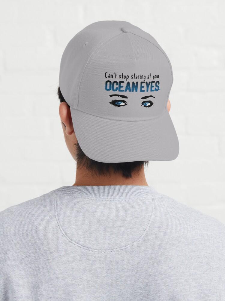Alternate view of Staring At Your Ocean Eyes - Billie Eilish Design Cap