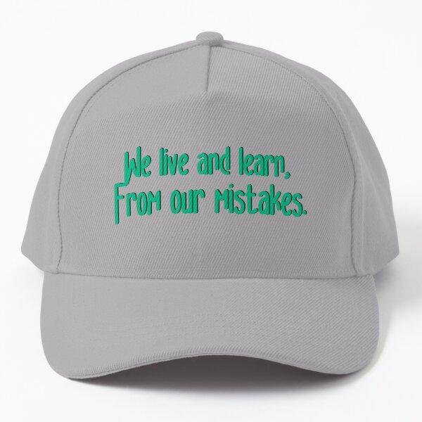 We Live and Learn - Pat Benatar Design Baseball Cap