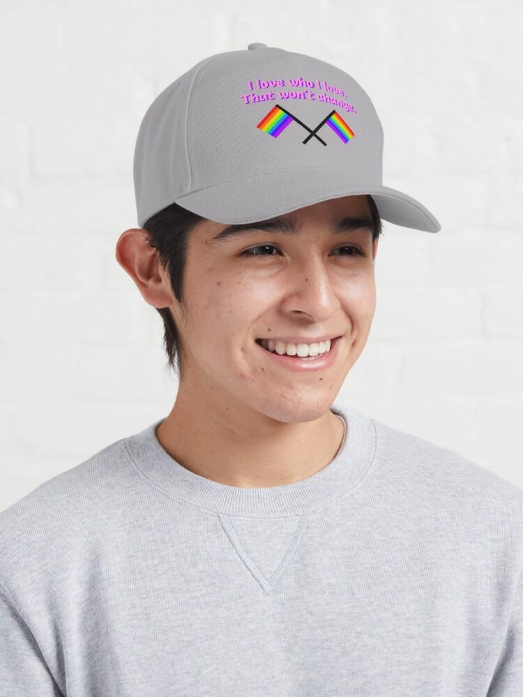 Alternate view of I Love Who I Love - LGBTQ Rainbow Design Cap