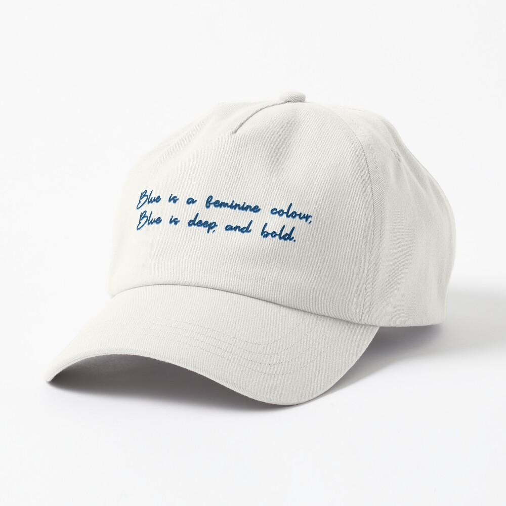 Blue, A Feminine Colour - MIKA Design Cap