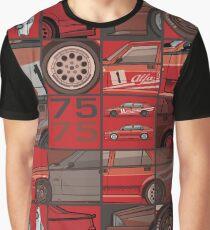 Stack of Alfa Romeo 75 Tipo 161, 162B Milanos  Graphic T-Shirt