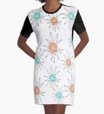 Atomic Starburst Mid-Century T-Shirt Kleid