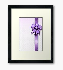 Lilac Present Bow Framed Print