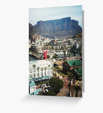 Table Mountain and lego man Greeting Card