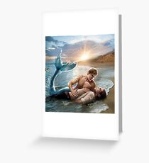 Merman Rescue Greeting Card