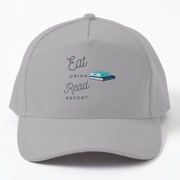 Eat Drink Read Repeat, Read, Reading, Literature, Books, Book Baseball Cap