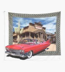 Cadillac in Town Wall Tapestry