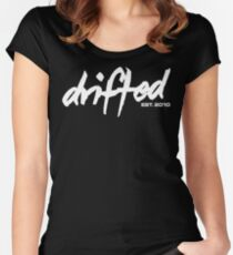 Drifted Classic Tee - Black Women's Fitted Scoop T-Shirt