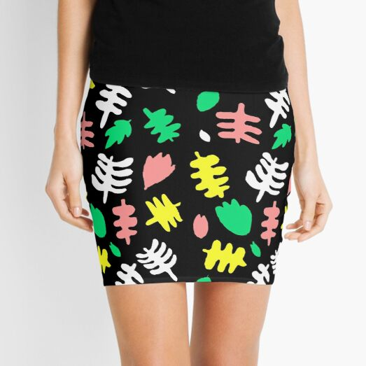 Paradise Tropic black Mini Skirt