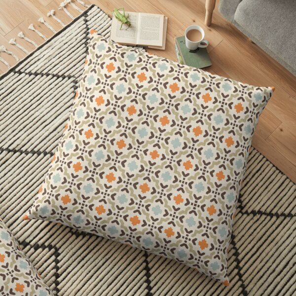 Geometric Oriental Andalusian Traditional Moroccan Style  Floor Pillow