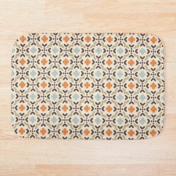 Geometric Oriental Andalusian Traditional Moroccan Style  Bath Mat