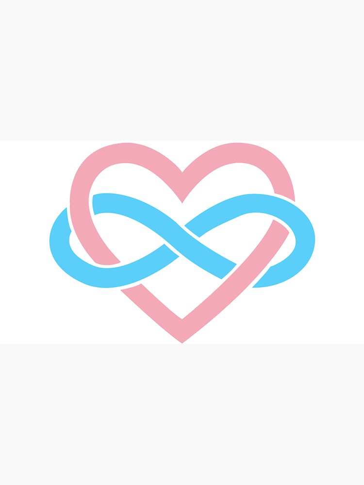 Transgender Polyamory Infinity Heart (White) by polyphiliashop