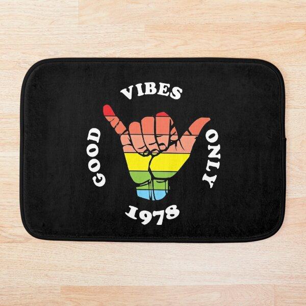 Good Vibes Only 1978 Bath Mat
