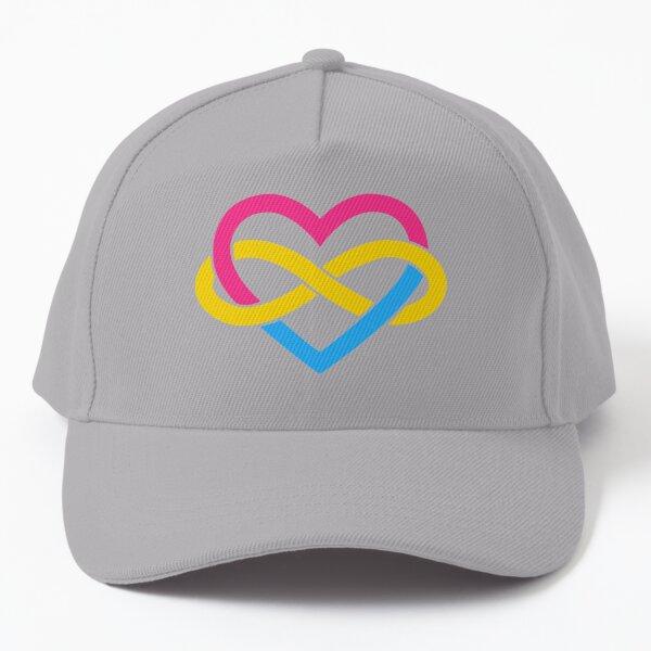 Pansexual Polyamory Infinity Heart (White) Baseball Cap