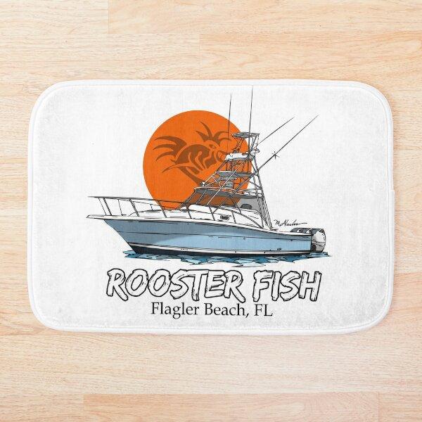 Rooster Fish Flagler Beach, Florida Bath Mat