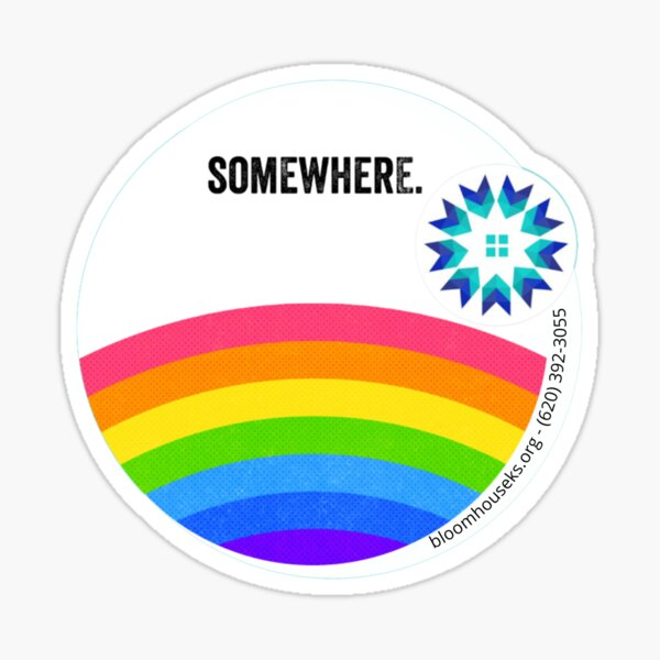 Somewhere Over the Rainbow Round Sticker Sticker
