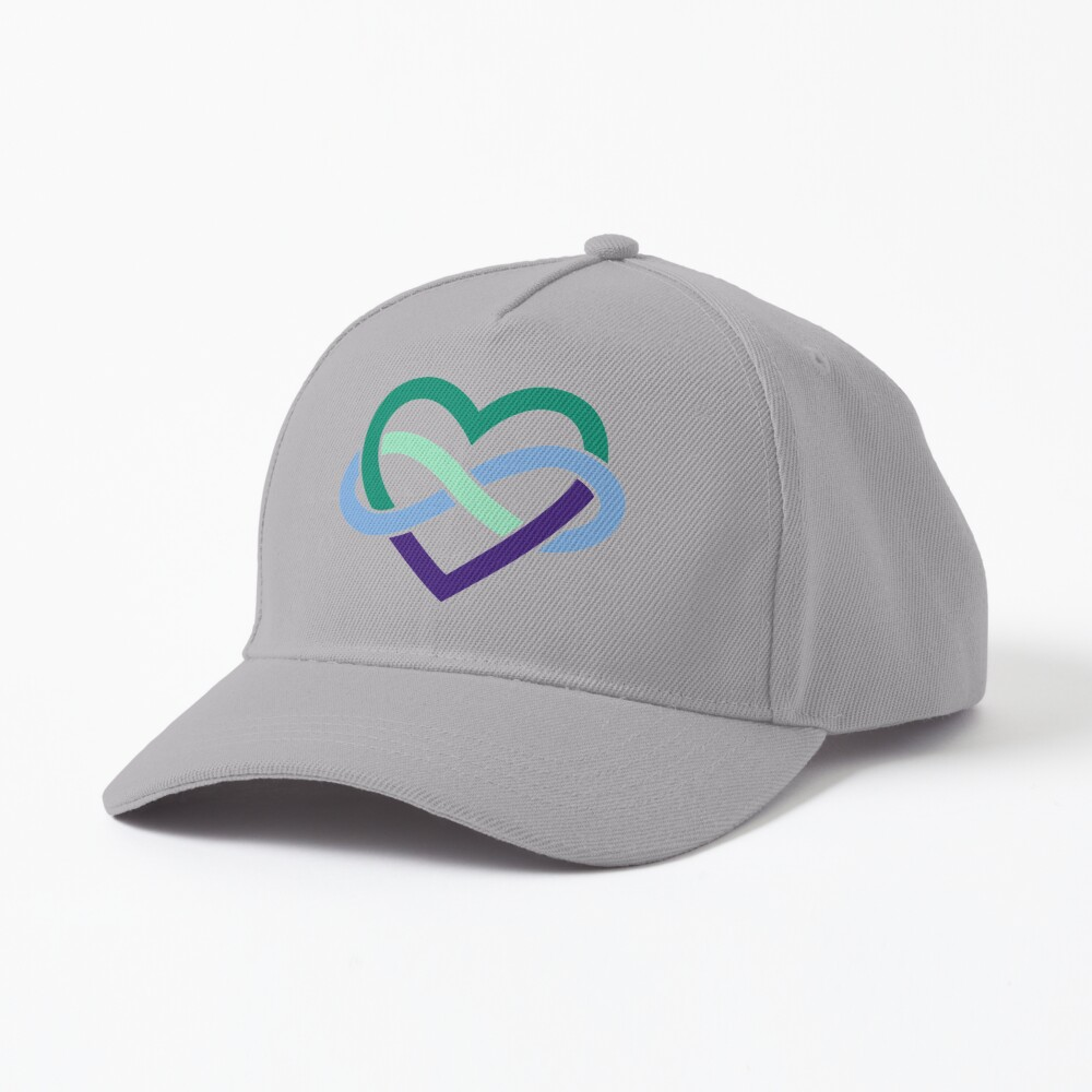 Gay Polyamory Infinity Heart (White) Cap