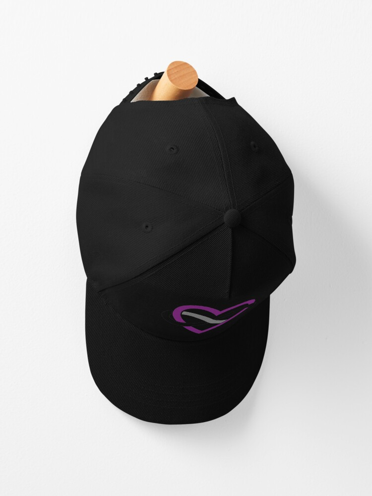 Alternate view of Asexual Polyamory Infinity Heart (White) Cap