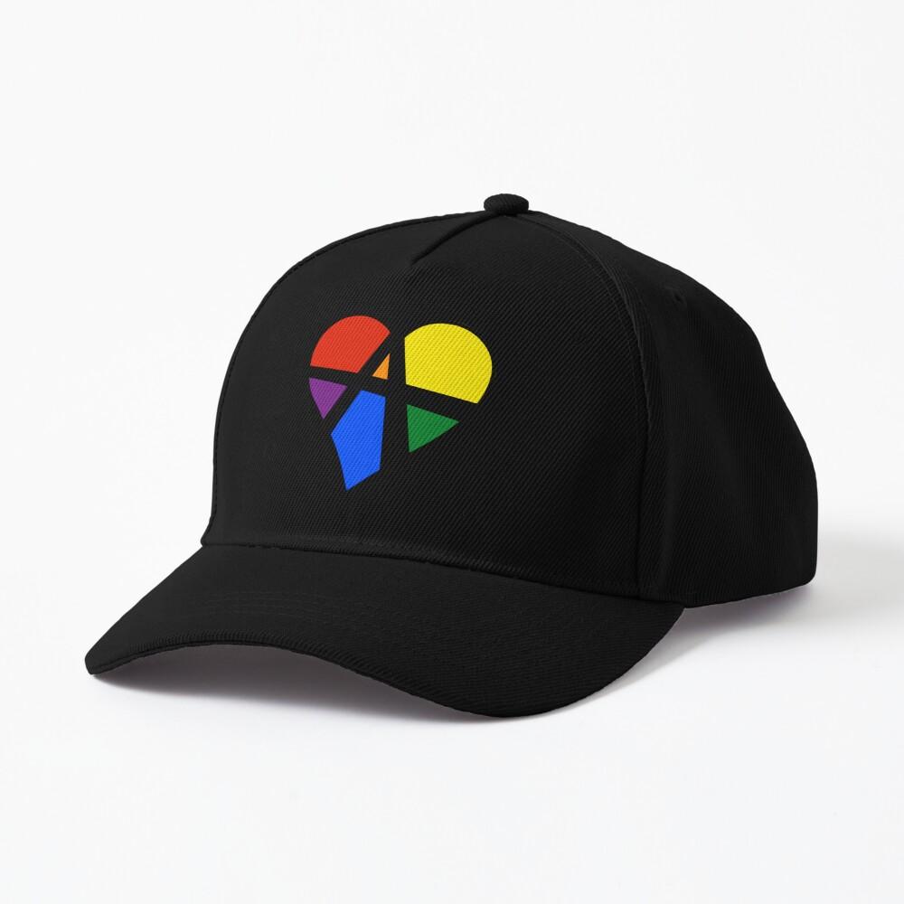 Rainbow Relationship Anarchy Heart (Black) Cap