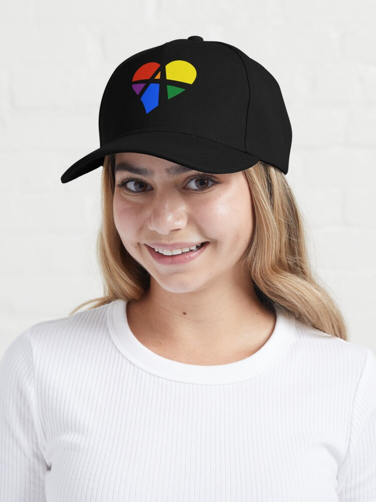 Alternate view of Rainbow Relationship Anarchy Heart (Black) Cap