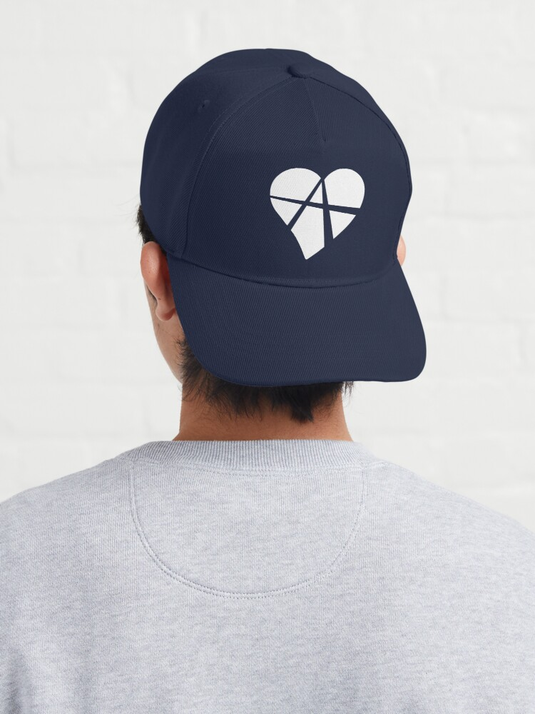 Alternate view of White Relationship Anarchy Heart Cap