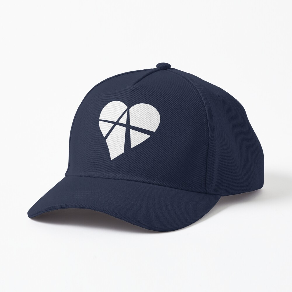 White Relationship Anarchy Heart Cap