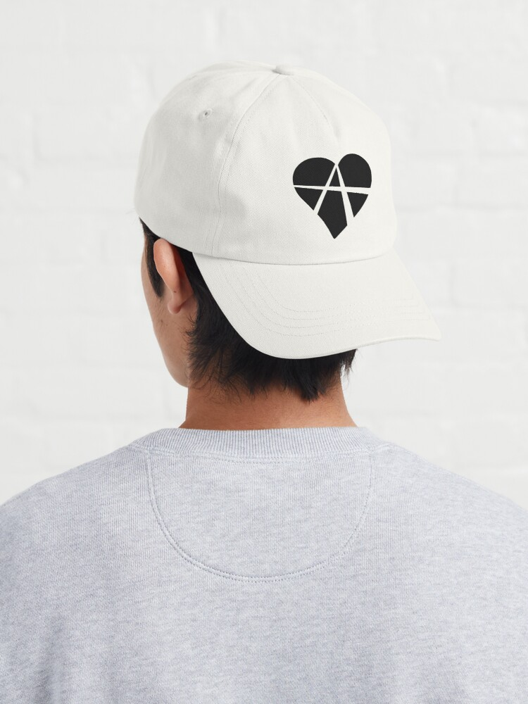 Alternate view of Black Relationship Anarchy Heart Cap