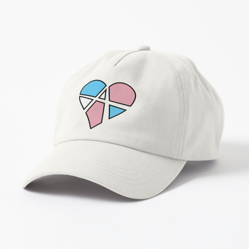 Transgender Relationship Anarchy Heart (Black) Cap