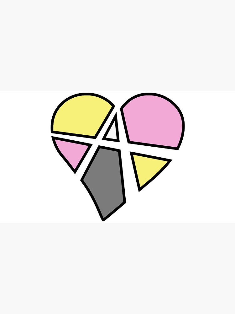 Queerplatonic Relationship Anarchy Heart (White) by polyphiliashop