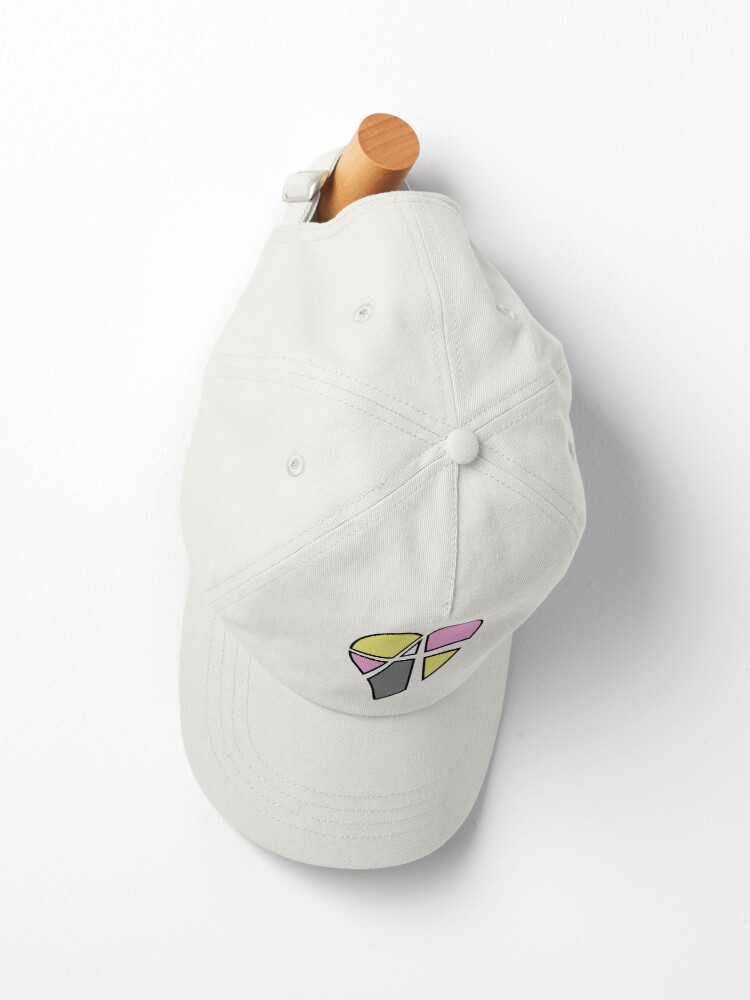 Alternate view of Queerplatonic Relationship Anarchy Heart (White) Cap