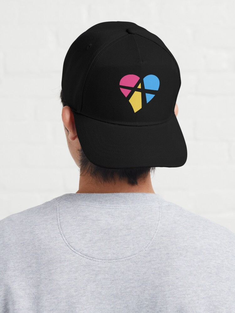 Alternate view of Pansexual Relationship Anarchy Heart (Black) Cap