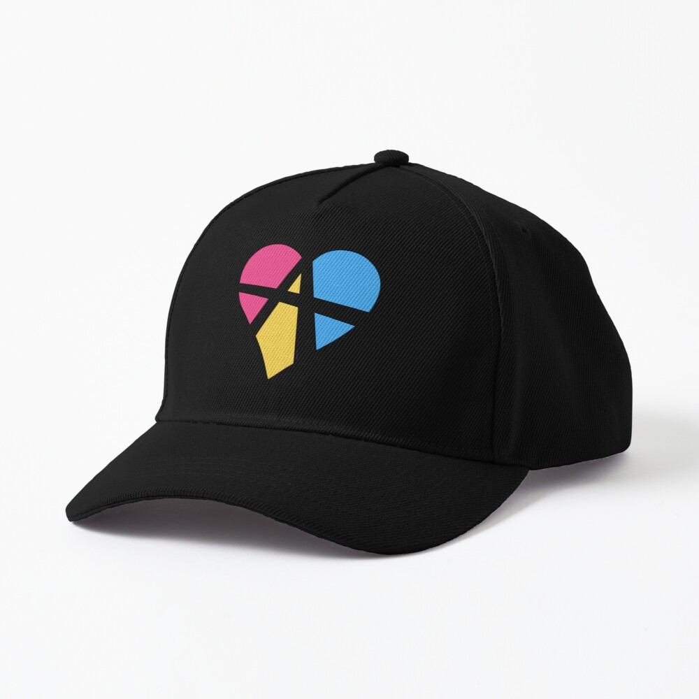 Pansexual Relationship Anarchy Heart (Black) Cap