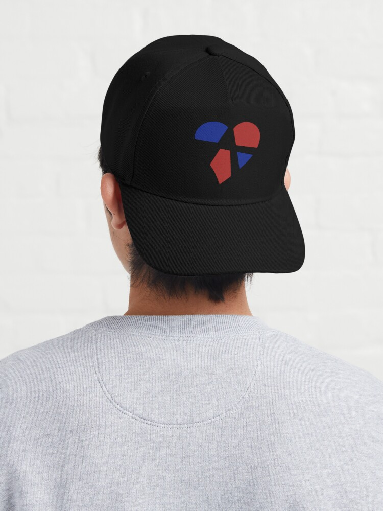 Alternate view of Polyamory Relationship Anarchy Heart (White) Cap