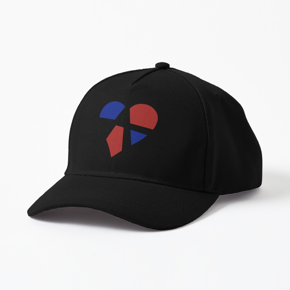 Polyamory Relationship Anarchy Heart (White) Cap
