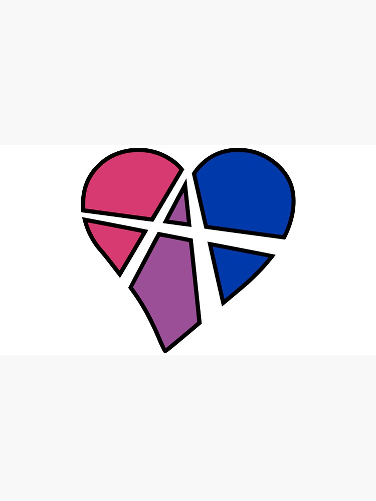 Bisexual Relationship Anarchy Heart (White) by polyphiliashop