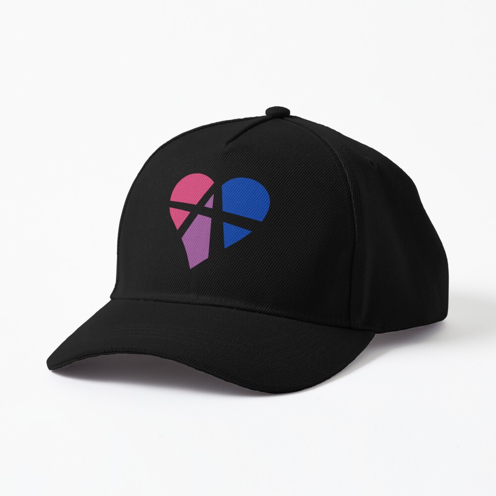 Bisexual Relationship Anarchy Heart (White) Cap