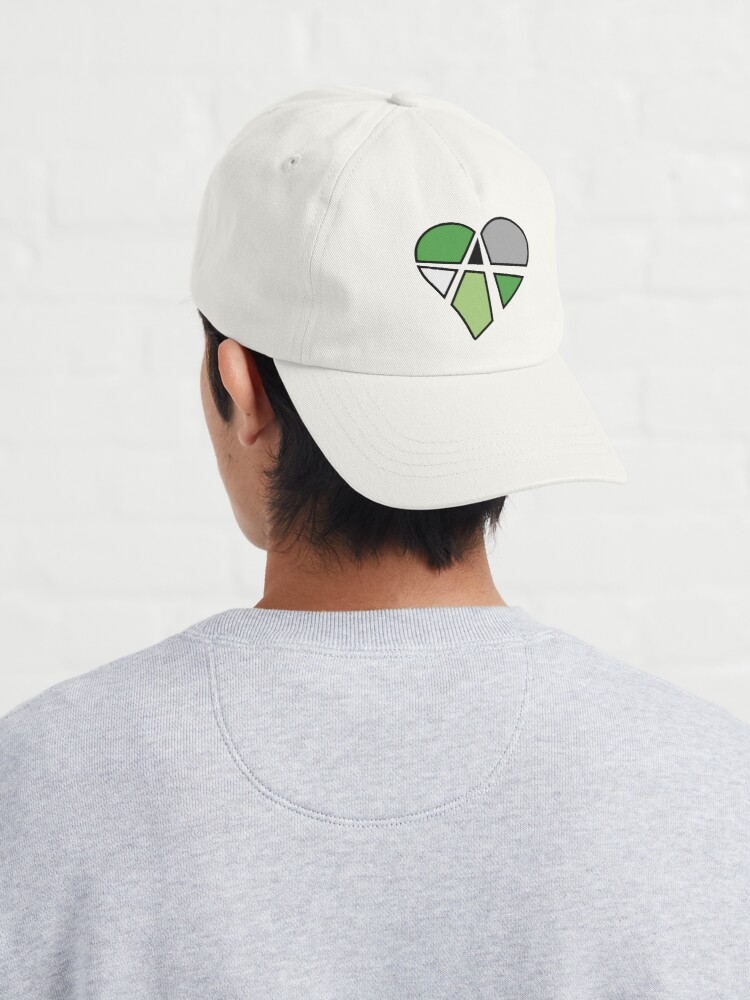 Alternate view of Aromantic Relationship Anarchy Heart (Black) Cap