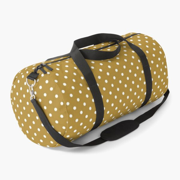 White Dots On Gold Background Duffle Bag